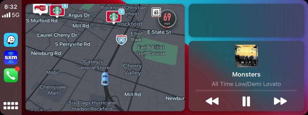 Waze Dashboard CarPlay 3