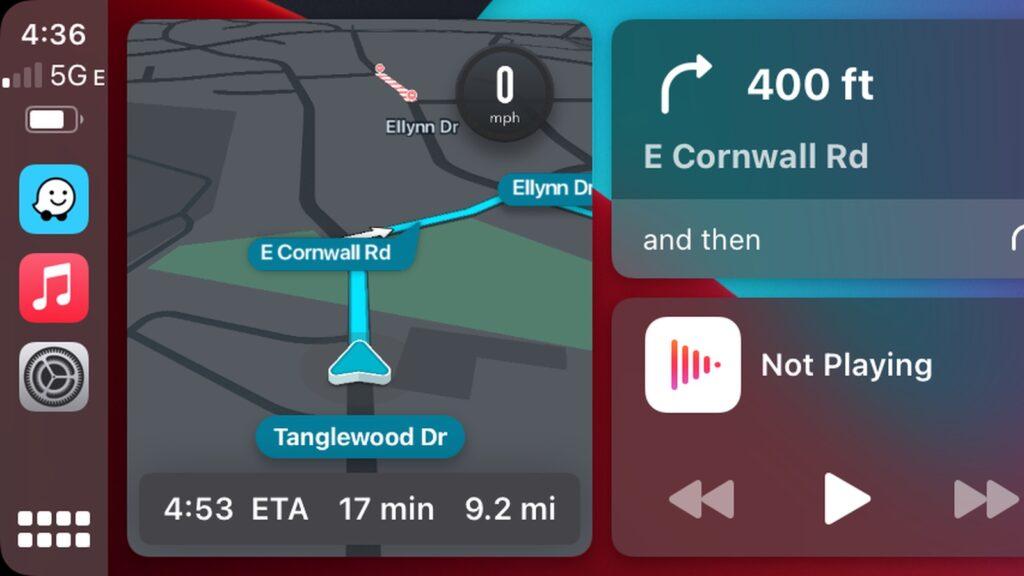 Waze Dashboard CarPlay 2