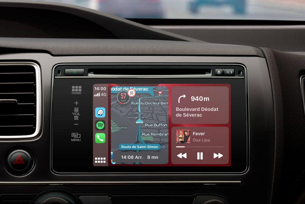Waze Dashboard CarPlay